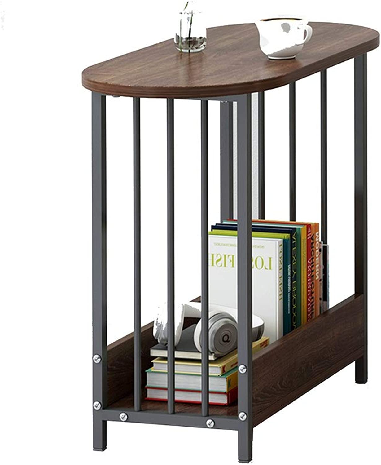 Xiaolin 2 Tier Sofa Side Table,Wood Telephone Coffee Dining Table Storage Rack Assemble 23.6 X 11.4 X 20.4 (color   C)