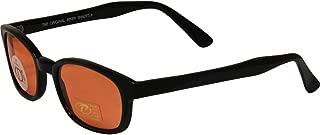 Original KD Sunglasses Orange Lens Biker Driving Glasses, Black Orange, Standard