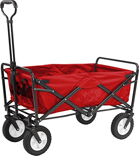 Meister Chariot de transport pliable, rouge, 6816910