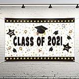 Mengxin 71 x 45 Graduación Banner Decoración de Fiesta de Graduación 2021 Fondo Fotográfico Colgante Fondo Graduación Artículos para Fiesta