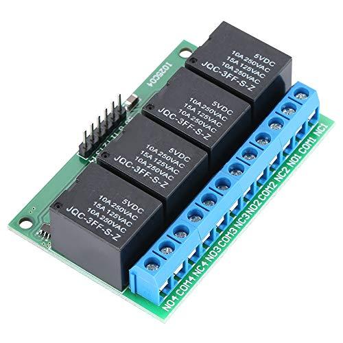Relais zelfborgende 4-kanaals relais voor het activeren van flip-flops, 5-kanaals trigger-module, laag, zelfborgend, bistabil