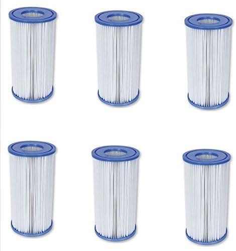 Bestway 58012 Cartouche de filtration pour piscines Taille III - 6 pieces