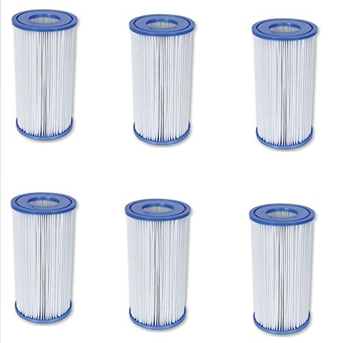 Bestway Flowclear Filterkartusche Gr.III 10,6x20,3 cm, 6er-Set