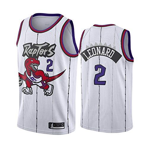 TPPHD Jerseys de la NBA, Raptors # 2 Kawhi Leonard Classic Basketball Shirt, Uniforme cómodo de Fan Unisex Transpirable Ligero,M