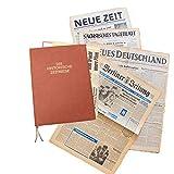 HISTORIA Zeitung aus der ehemaligen DDR vom Tag der Geburt 1951 - historische DDR-Zeitung inkl. Mappe & Zertifikat als Geschenkidee