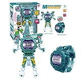 QqHAO Montre difforme Jouet éducatif Robot Enfants Cartoon Montre électronique Montre Garçon Fille,6