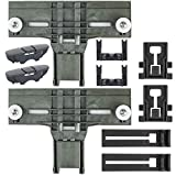 Upgraded W10350375 Top Rack Adjuster With Dishwasher Upgrade Wheels Metal Screw W10195840 W10195839 Rack Adjuster W10250160 Arm Clip Lock W10508950 Slide Rail Stop Clip(Pack of 10)