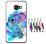 THEcoque Coque Silicone Bumper Souple Samsung A5 2016 -LILO & Stitch Mignon Feather Swag Motif 1 Design Case+ Stylet