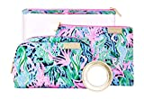 Lilly Pulitzer Astwood Pouch Set High Tide Navy Bringing Mermaid back