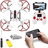 Camera: Yes, Weight: 350Gm, Flying Time: 10-12 Min, Flying Height: 55-60 mtrs, Charging Time: 60 Min Battery Information: 3.7V 380mAh Li-Po (Included) ; Remote Battery: 4 AA Battery (Not Included) FUNCTIONS: Altitude Hold, 360 Flip Action, Headless M...