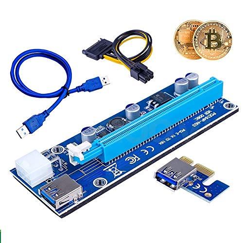 Multibao USB 3.0 PCI-E 1x zu 16x GPU Board Extender Riser Adapter Karte Kabel Bitcoin Mining 6 Pin Power Up