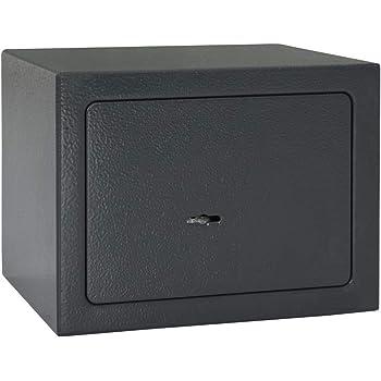 Festnight Caja Fuerte Pequeña Caja Seguridad Caja Fuerte Mecánica de Acero Caja Fuerte Secreta Gris Oscuro: Amazon.es: Hogar