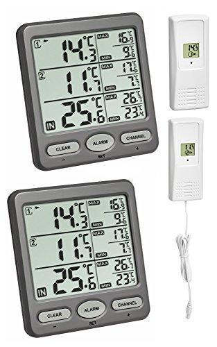 Funk-Thermometer Trio Spezial TFA 30.3062.SP Funkthermometer Raumtemperatur Überwachung (anthrazit 30.3062.10.SP)