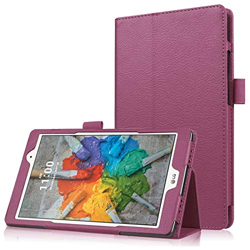 Asng LG G Pad X 8.0 / G Pad III 8.0 Hülle – Slim Folding Stand Cover Smart Hülle für LG G Pad X 8.0 (V521) / ATundT (V520) / LG G Pad III 8.0 (V525) Tablet (lila)