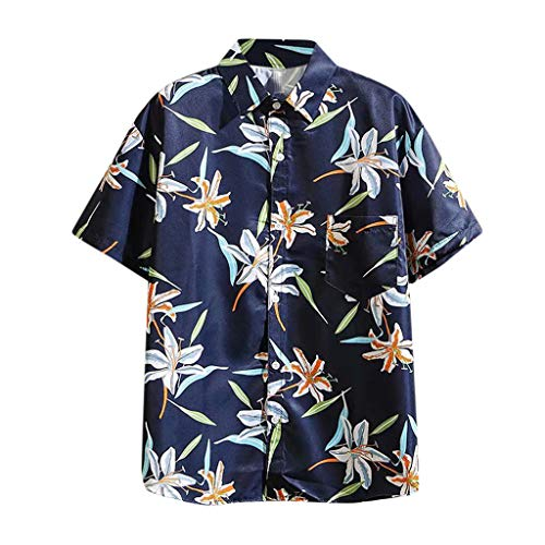 Learn More About Mlide 2020 Summer Hawaiian Shirts for Men Casual Button Down Short Selvee Beach Men...