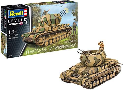 Revell RV03296 Flakpanzer IV Wirbelwind Modelmaking, Unlackiert