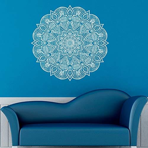 Pegatinas de pared de yoga diseño de patrón de mandala decoración del hogar murales de arte pegatinas de sala de estar calcomanías A20 59x59 cm