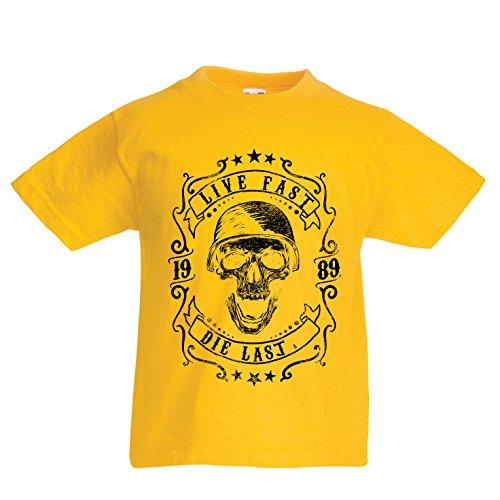 lepni.me Kids T-Shirt Leven Snel - Die Laatste - Bike Ride Citaten, Motorkleding