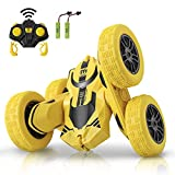 INVINZER Remote Control Car RC Car Truck Toys Hobby RC Cars 4WD Off Road 360° Flip 4 Wheels Drive RC Stunt Car with 2 Rechargeable Batteries Car Toy Gift for 6-12 Year Old Kids Toy Cars for Boys