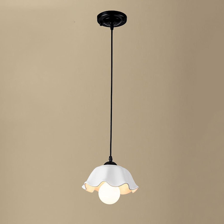 Land Restaurant Kronleuchter LED Einfache drei Kopf Speisetisch Esszimmer Lampe einzigen Kopf Keramik Bar Counter Cafe Pendelleuchte (gre   Einzelkopf)
