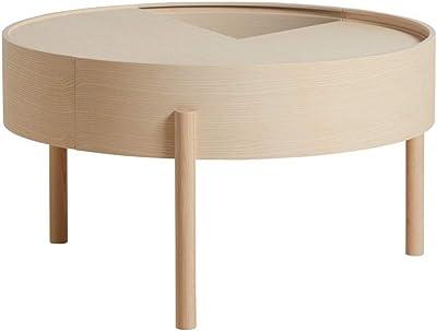 et Style Table Basse Noir Ronde Wadiga Métal Bois Industriel 6gy7bvYf