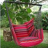 Holzenplotz Hängesessel Hängematte Hängestuhl aus Baumwolle mit 2 Kissen 4 Größen lieferb. Größe L 181