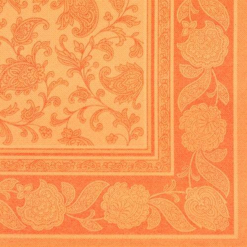 """20 Servietten ROYAL Collection 1/4-Falz 40 x 40 orange """"Ornaments"""""""