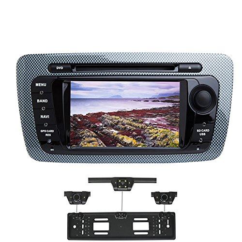 XISEDO Android 7.1 Autoradio 2 DIN Radio de Coche 7' Estéreo Navegación de Automóvil con Pantalla Táctil y Reproductor De DVD para Seat Ibiza 2009-2013