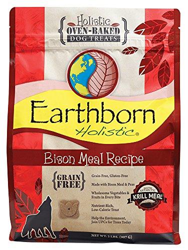 Earthborn Holistic Receta de harina de Bisonte sin Granos de Horno Galletas horneadas para Perros
