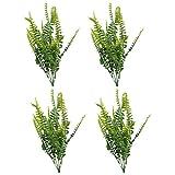 Tomaibaby 4 Piezas de Plantas Verdes Artificiales Tallos de Helecho de Boston Palillos de Plástico Arbusto Plantas Arreglo Floral para Florero Fiesta de Boda Hogar Primavera Acuario