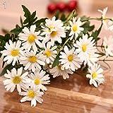 topxingch 1 Blumenstrauß mit 9 Köpfen künstliche Gänseblümchen für drinnen und...