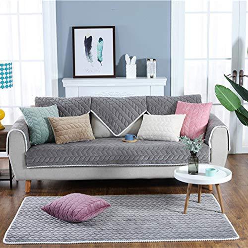 YCDZ Funda de sofá reversible de 3 plazas, ancho del asiento de hasta 100 pulgadas, lavable a máquina, para muebles de 3 plazas, suave y cómodo, adecuado para familias de mascotas (gris, 70 x 90 cm)
