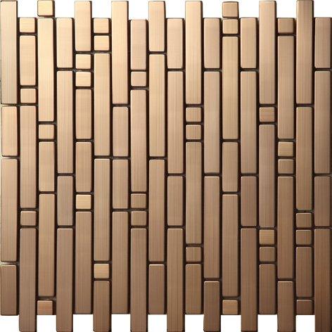 Striscia Mosaico Art Deco metallo mosaico acciaio inossidabile Mosaico muro300*300mm--Cucina Backsplash/Parete da bagno/decorazione domestica(SA047)