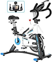 L NOW Indoor Exercise Bike Indoor Cycling Stationary Bike, Belt Drive with Heart Rate, Adjustable Seat and Handlebar, Tablet Holder, Quiet and Smooth for Home Cardio(D600)