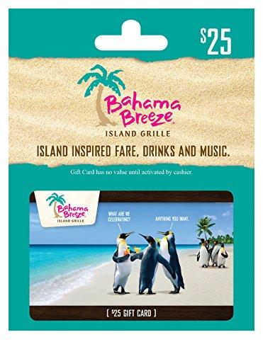 Bahama Breeze $25 Gift Card