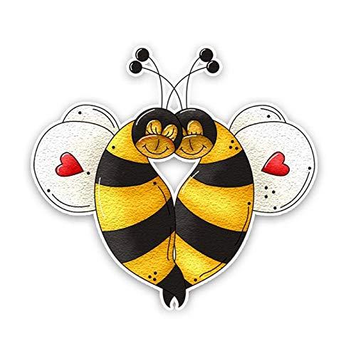 SSQ A Bee In Love Decal Car Sticker 13.6Cm*12.6Cm