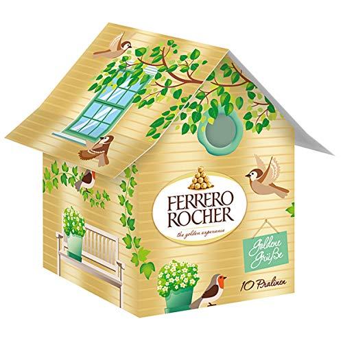 Ferrero Rocher Vogelhäuschen mit 10 Rocher Kugeln gefüllt 125g