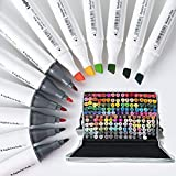 Lightwish Alcohol Markers, 168 Colors Marker Pens Dual Tips for Coloring, Drawing, Managa, Comic, Cartoon Painting, Illustrations, Design