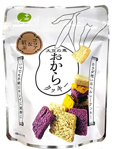 【十二堂】豆乳おからクッキー ココア & 紅茶 (NEWパッケージ) 8枚入り バター マーガリン 卵 不使用 / 保存料 香料 無添加