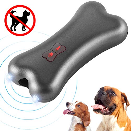 Petacc Anti-Bell-Gerät für Hunde, Ultraschall Anti-Bell-Mittel für Hunde Bellkontrolle 100% Sicher, Handheld Trainingsgerät für Hunde im Freien, 5 Meter Regelbereich Wiederaufladbarer mit LED-Licht