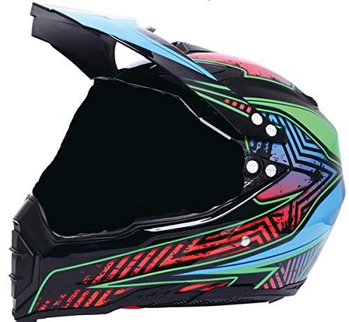 IAMZHL Schwarz glänzend Helm Motorrad Racing Fahrrad HelmDirt Bike Downhill MTB Cross Helm Kapazitäten SML XL XXL-Star-Dark-S