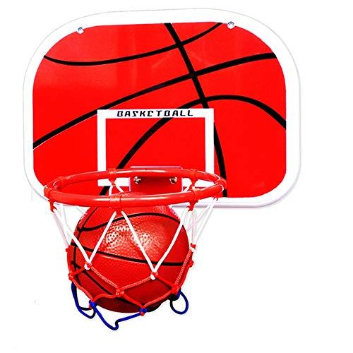 MHCYKJ Mini Canasta NBA Tablero De Aro Baloncesto Montado En La Pared Hogar Oficina Dormitorio con Accesorios Completos para Puertade Ocio BalóN Y Bomba (Size : L)