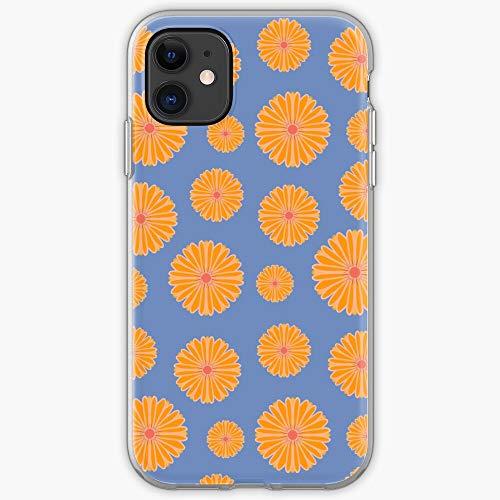 Patrón amarillo superficie chica flor | Funda para iPhone 11, iPhone 11 Pro, iPhone XR, iPhone 7/8/SE 2020 - TPU protector interior a prueba de golpes