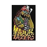 Major Lazer Cartoon American Electronic Music Group Poster