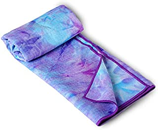 Tie-Dye Silicone Yoga Towel, Yoga Partner Soft, Sweat-Absorbent, Silicone Particles are Not Easy to Move. Suitable for Hot Yoga Pilates