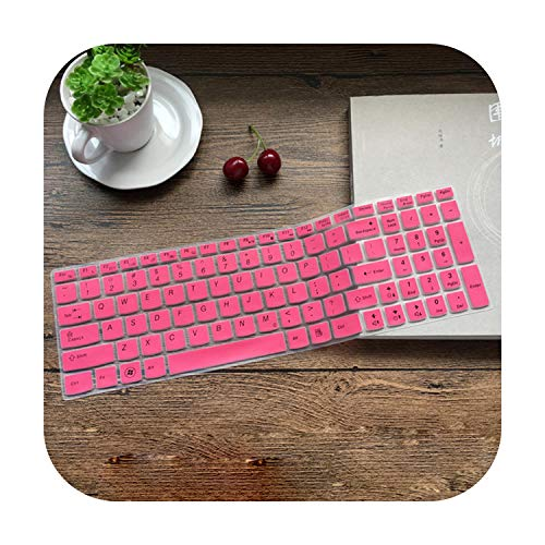 Silicone Keyboard Cover Protector Skin for Lenovo IdeaPad Z500 Z501 Z505 Z510 Z585 V580 V570 U510,S500 B580 B570 B575 B575E-Pink-
