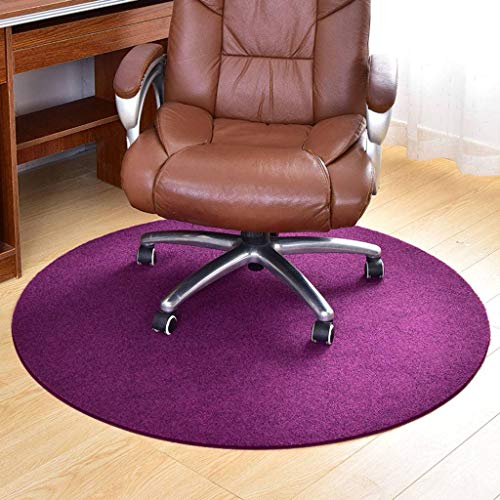 Living Room Carpet Chair Mat Protector Chair Mat,Solid Color Anti-Slip Protects Floors Floor Mat Office and Home for Hardwood Floor-120cm(47.24inch)-A