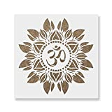 Om Flower Mandala Stencil Template - Reusable Stencils for Painting in Small & Large Sizes