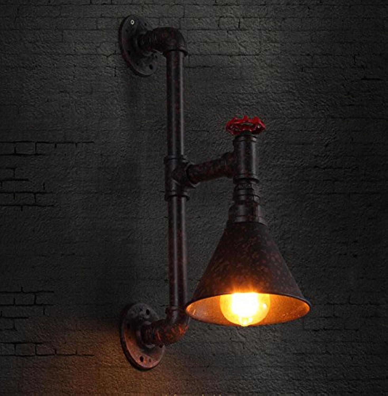 StiefelU LED Wandleuchte nach oben und unten Wandleuchten Retro Bügeleisen Wandleuchten Balkon licht Treppenlicht-zeitschalter single Head industrial Eisenrohre, Rostfarbenen
