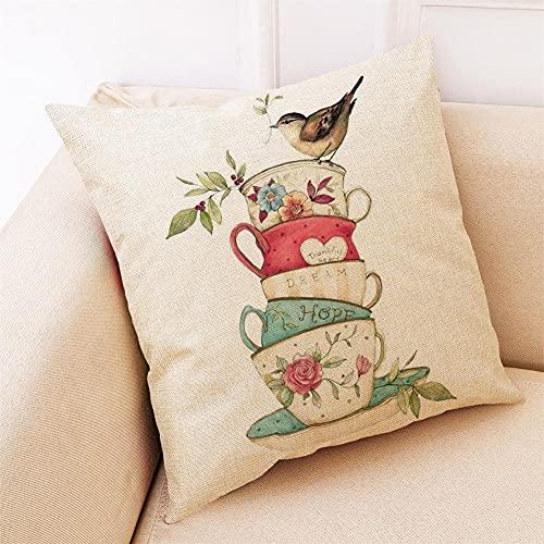 YINGZG Funda de Cojine 55x55cm 22x22 Inch Estilo Minimalista Cuadrado Cushion Cover Decoración Algodón Lino Lanzar Funda de Almohada Caso de la Cubierta Cojines para Sofá Decorativo Z1007